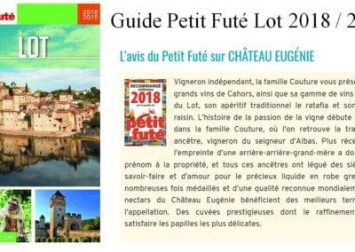 Petit Futé 2018-2019 Château Eugénie